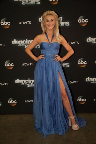 """DANCING WITH THE STARS - """"Episode 2306"""" - The nine remaining celebrities ready themselves for one of the hottest nights in the ballroom - Latin Night - with each celebrity performing either a rumba, salsa, samba, paso doblé, cha cha or Argentine tango, on """"Dancing with the Stars,"""" live, MONDAY, OCTOBER 17 (8:00-10:01 p.m. EDT), on the ABC Television Network. (Eric McCandless/ABC via Getty Images) JULIANNE HOUGH"""
