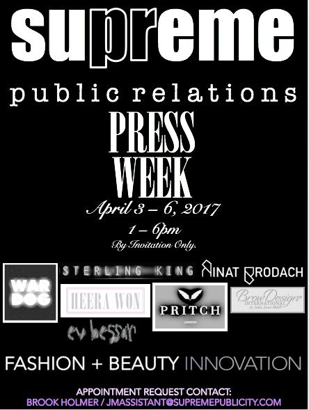 Supreme PR Press Week 2017
